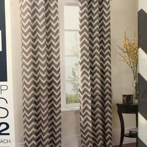 🆕 NEW!! Chevron Curtains set of two